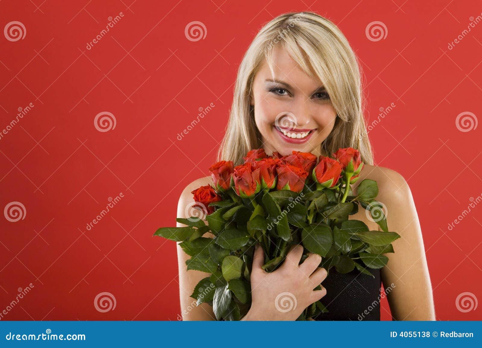 Belleza con las flores