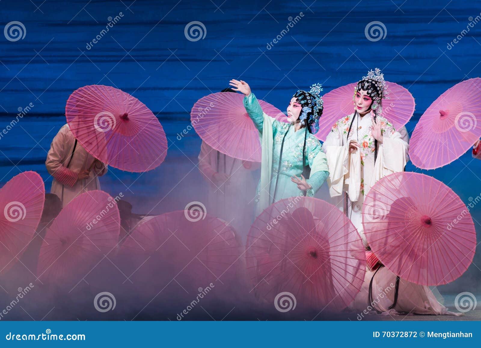 """Belleza del  blanco de Opera""""Madame Snake†del lago-Kunqu del oeste"""