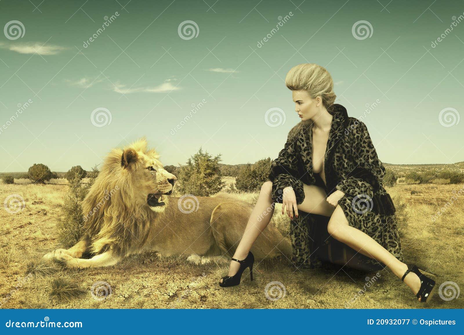 Belleza y león