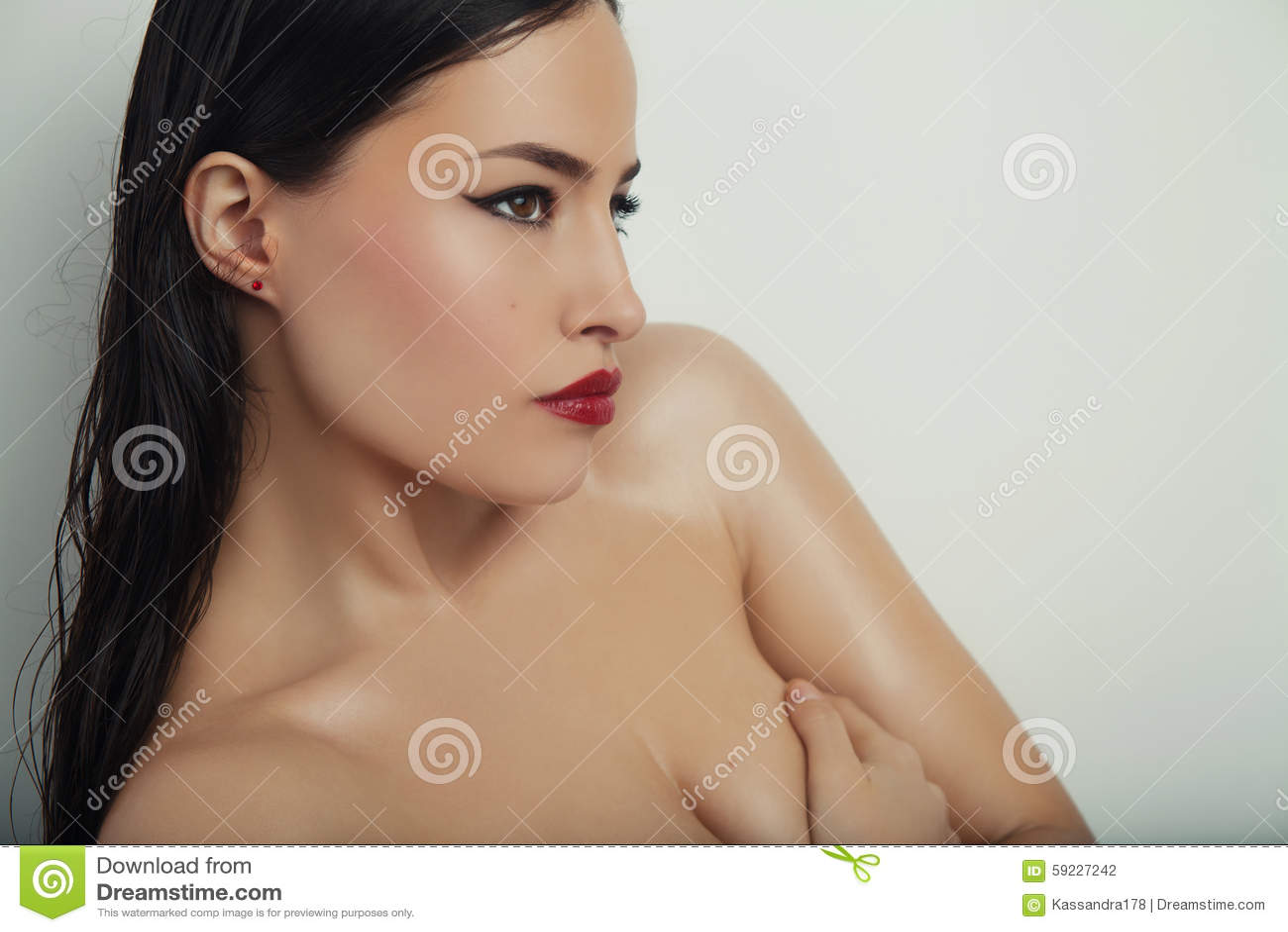 Download Belleza y maquillaje foto de archivo. Imagen de contemplación - 59227242
