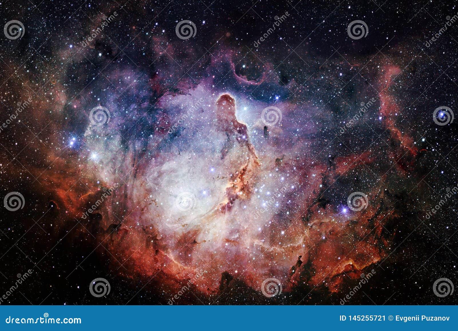Bellezza di spazio cosmico Carta da parati della fantascienza