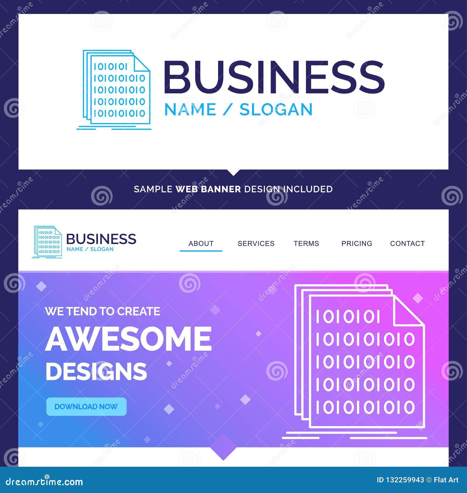 Bello file binario di marca commerciale di concetto di affari, codice, codifica, dati