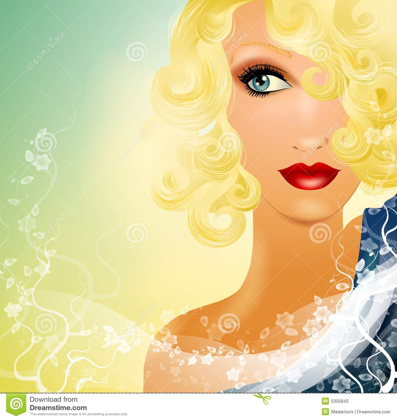Download Bello Fissare Biondo 2 Della Femmina Illustrazione di Stock - Illustrazione di gorgeous, grafico: 5305843