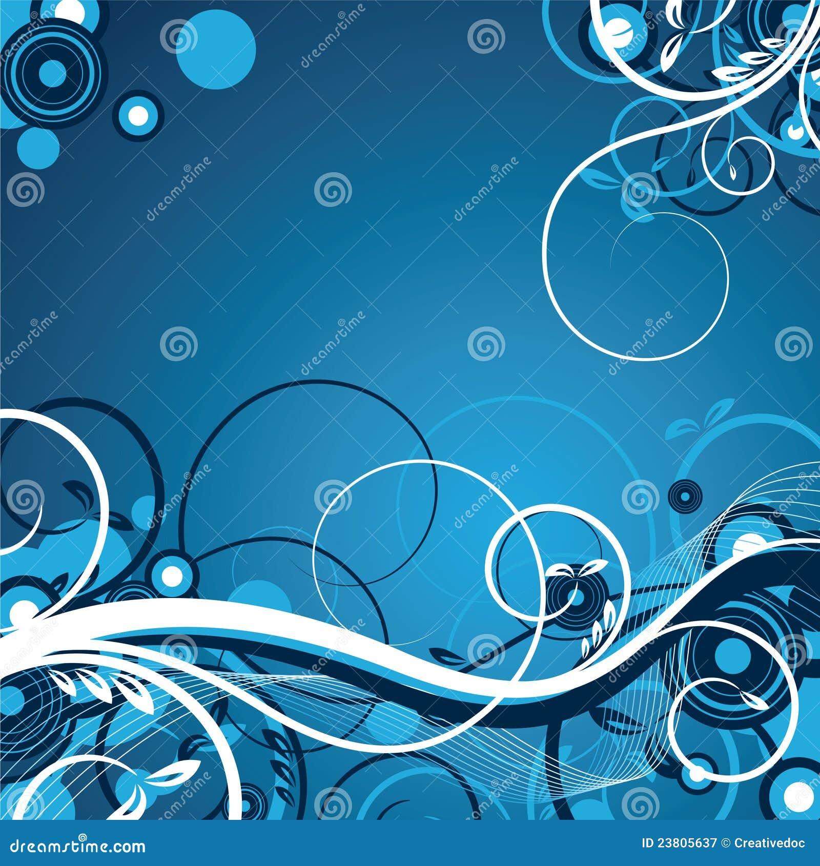 Bello floreale blu