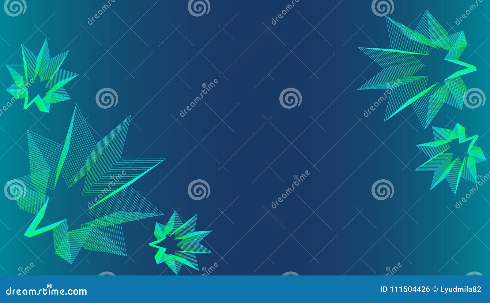 Bello fondo blu con le stelle di verde blu