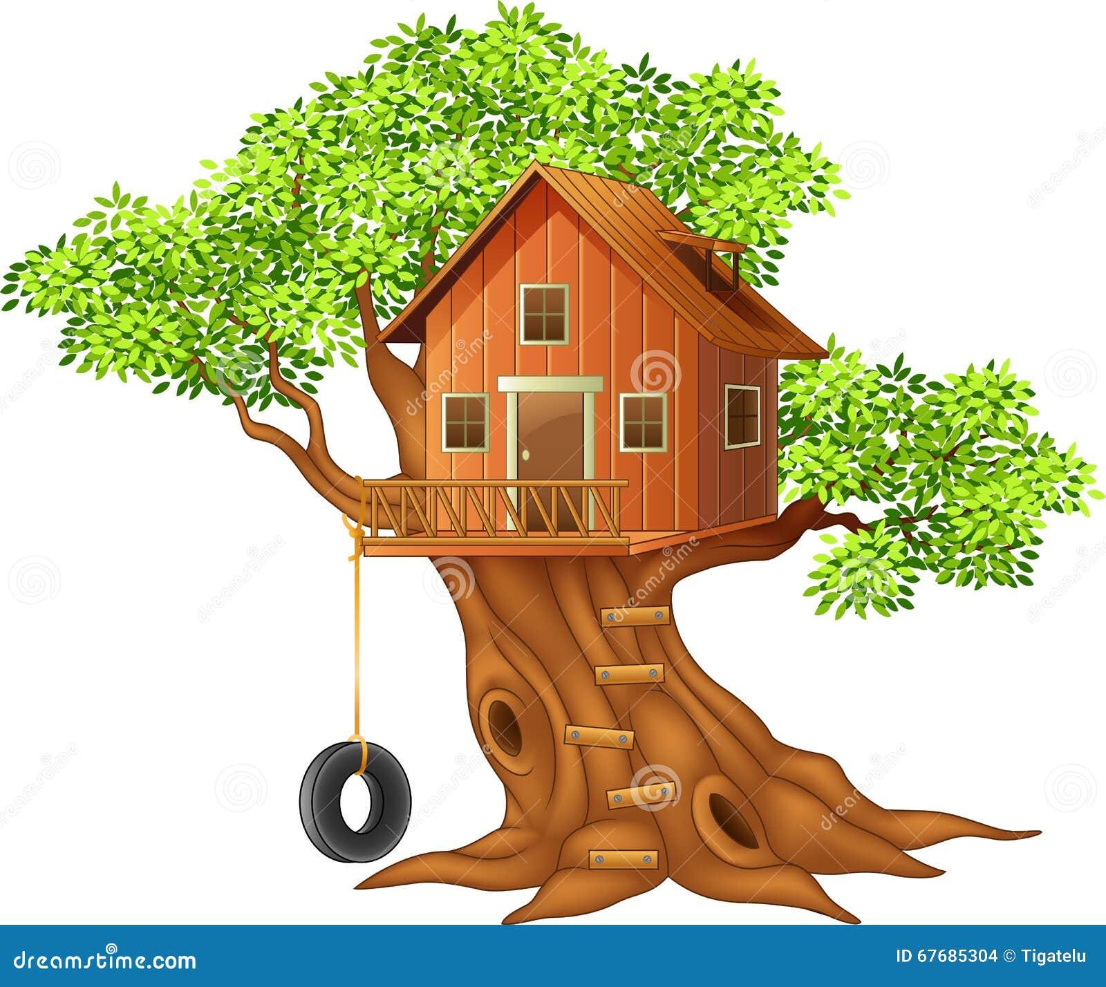 Bello fumetto della casa sull 39 albero illustrazione for Planimetrie della casa sull albero