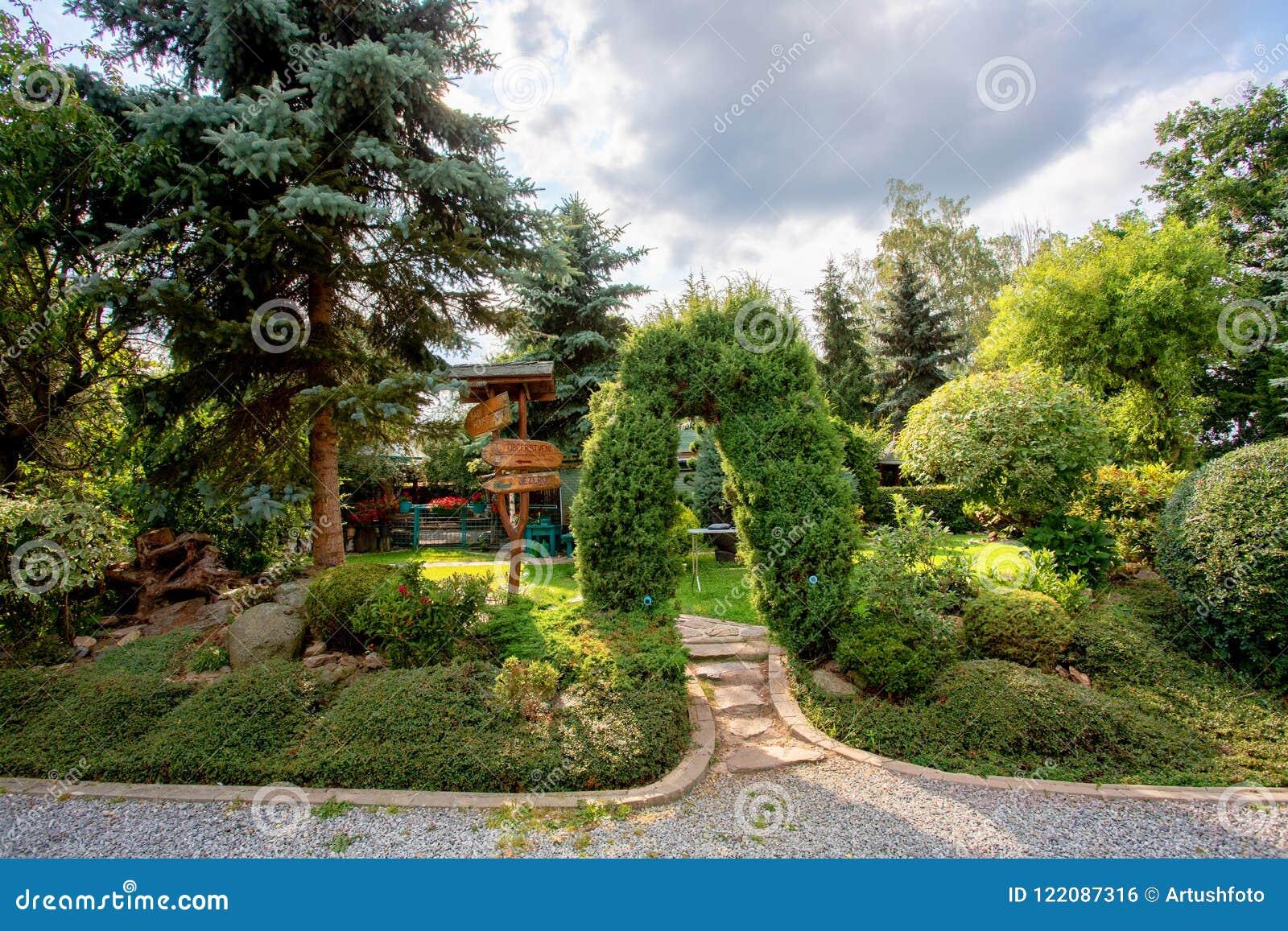 Bello giardino colorato di estate fotografia stock immagine