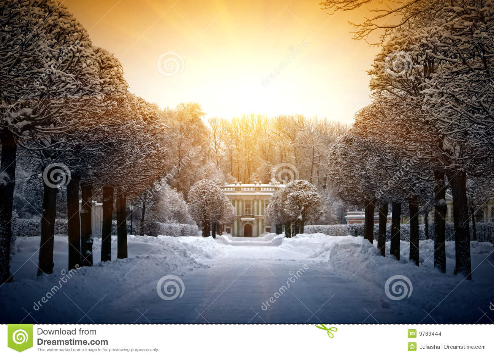 Bello inverno in Kuskovo