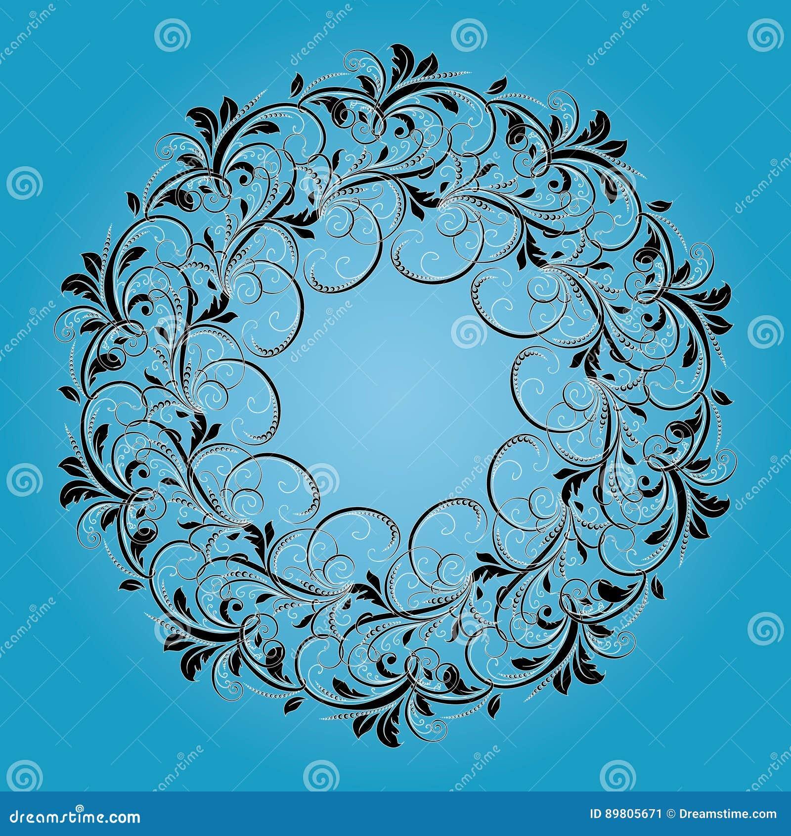 Bello modello circolare di floreale