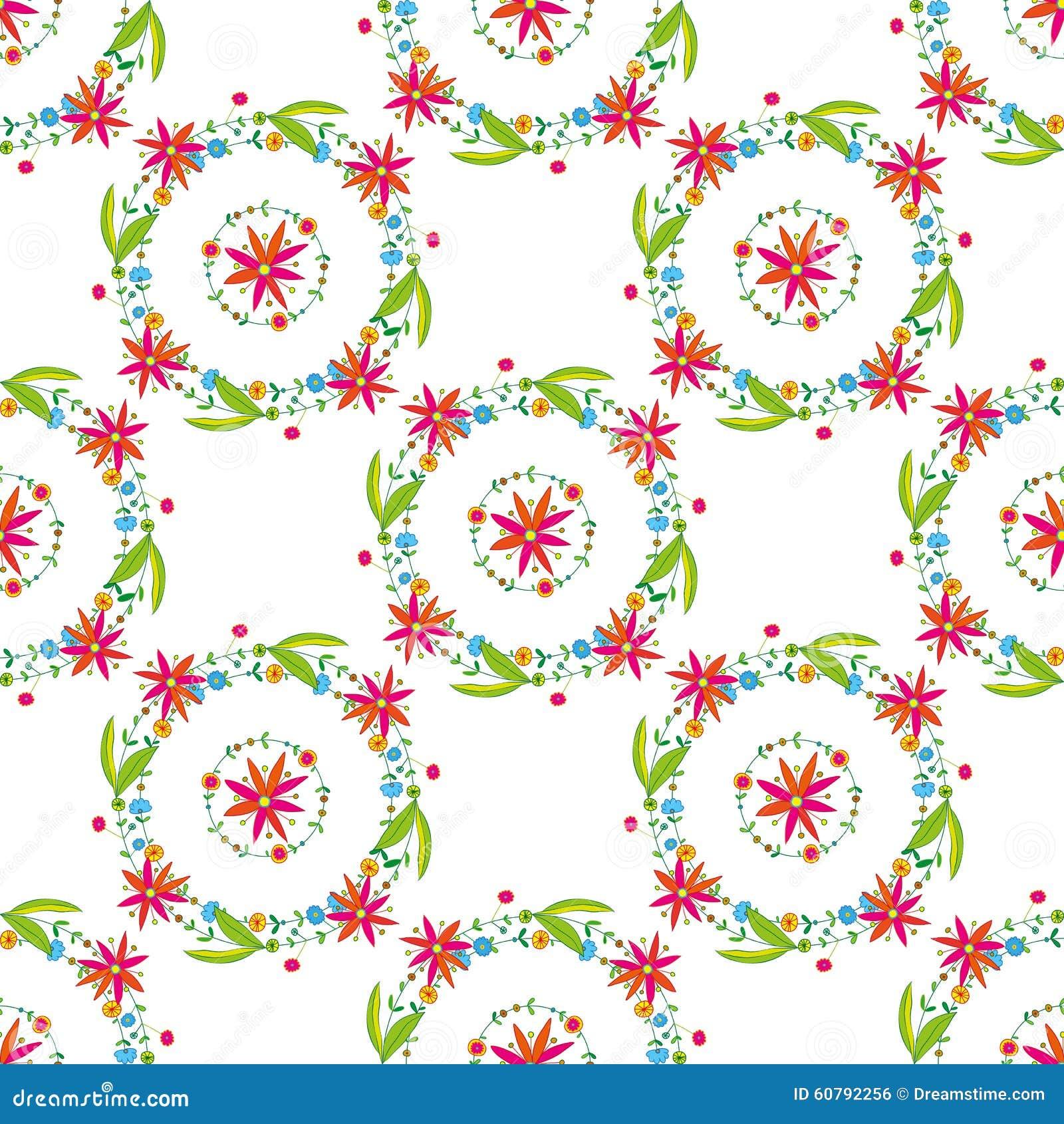 Bello modello di vettore del fiore su fondo bianco - Modello di base del fiore ...