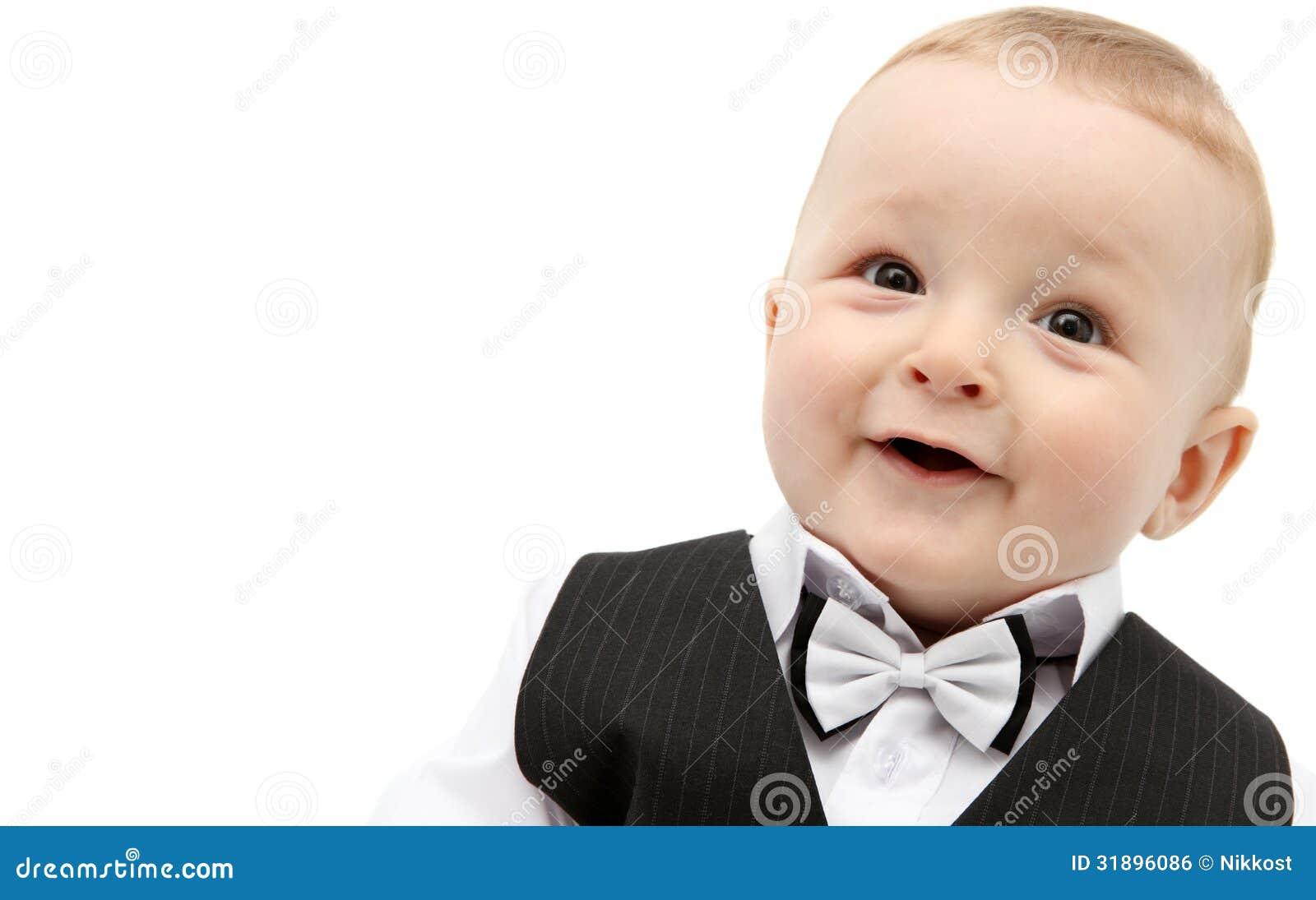 Bello neonato in vestito