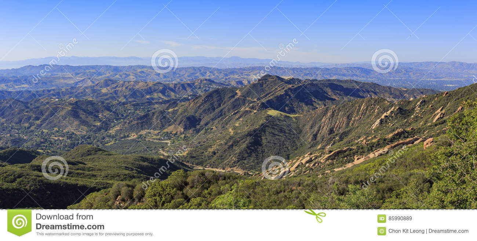 Bello paesaggio sulla traccia dell allerta di Topanga