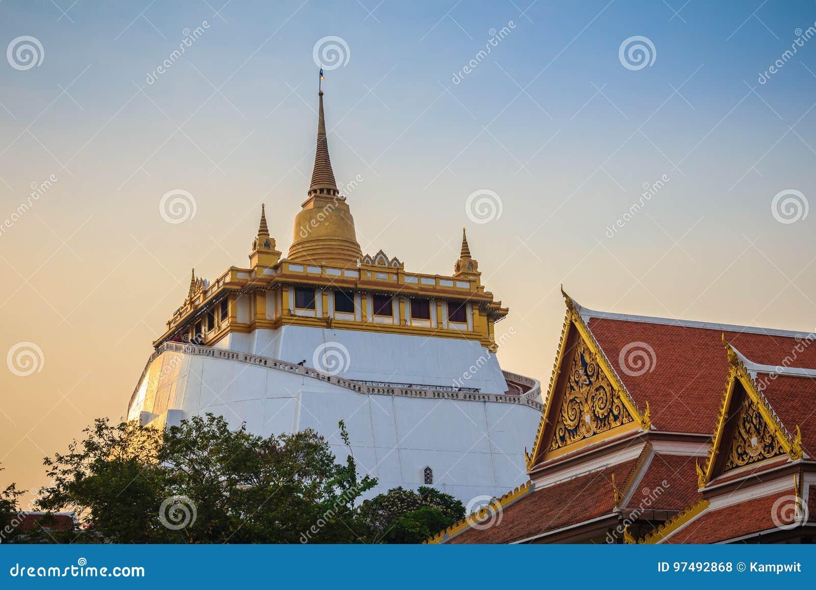 Bello punto di vista di Wat Saket Ratcha Wora Maha Wihan (Wat Phu Khao