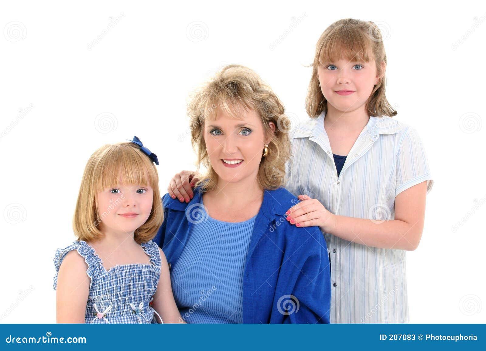 Bello ritratto della figlia della madre