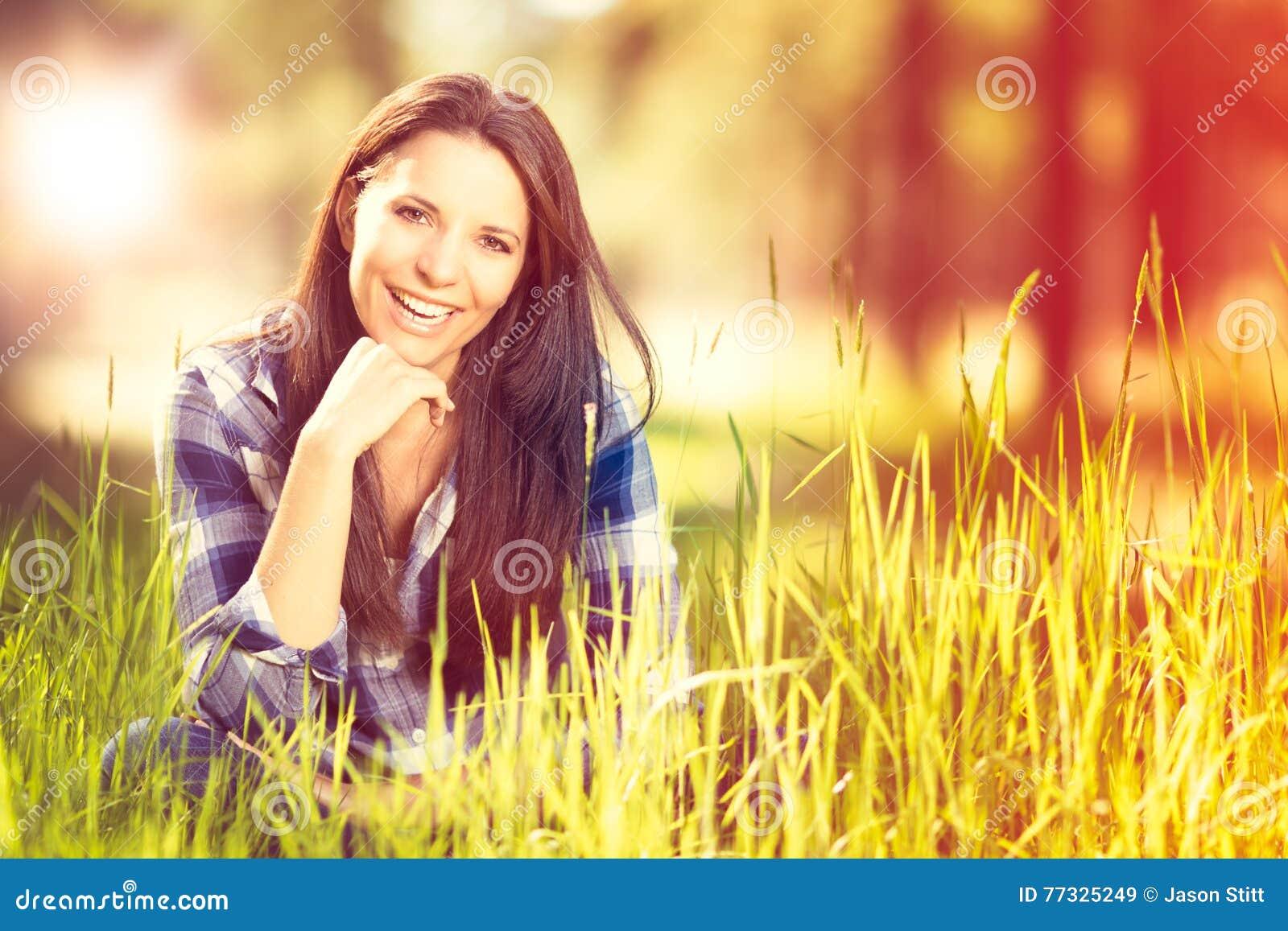 Bello sorridere della donna