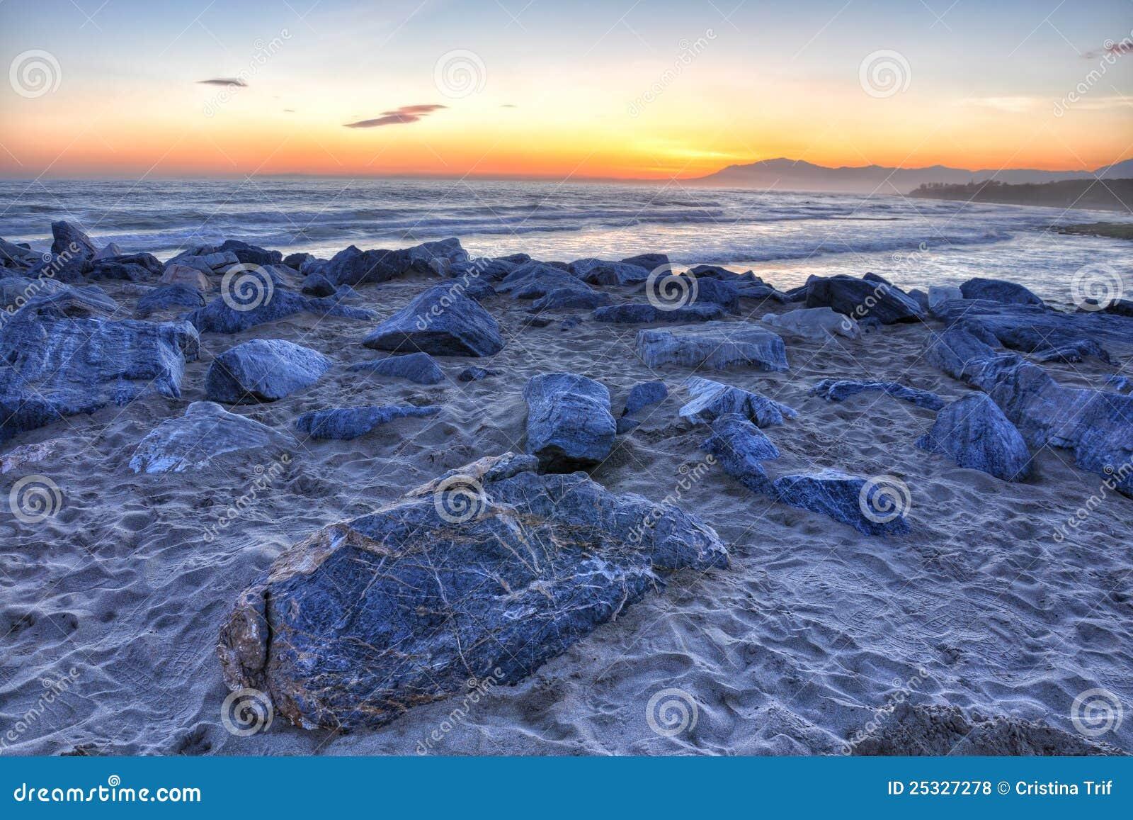 Bello tramonto 3 della Costa del Sol