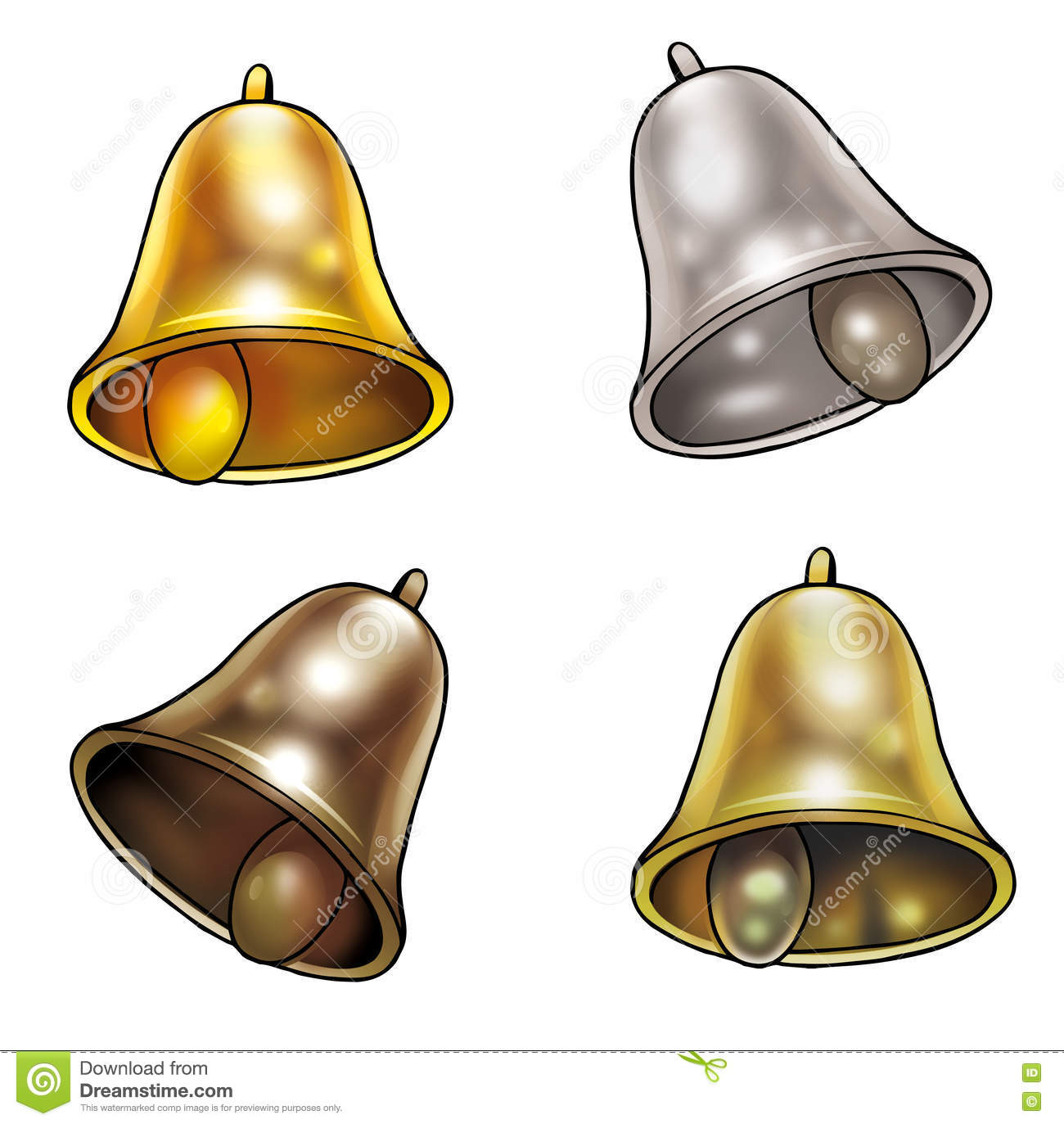 Download Bells Holiday stock image. Illustration of four, bluebell - 71763217