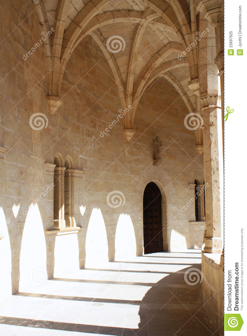 Download Bellver castle stock image. Image of gothic, interior - 23697625