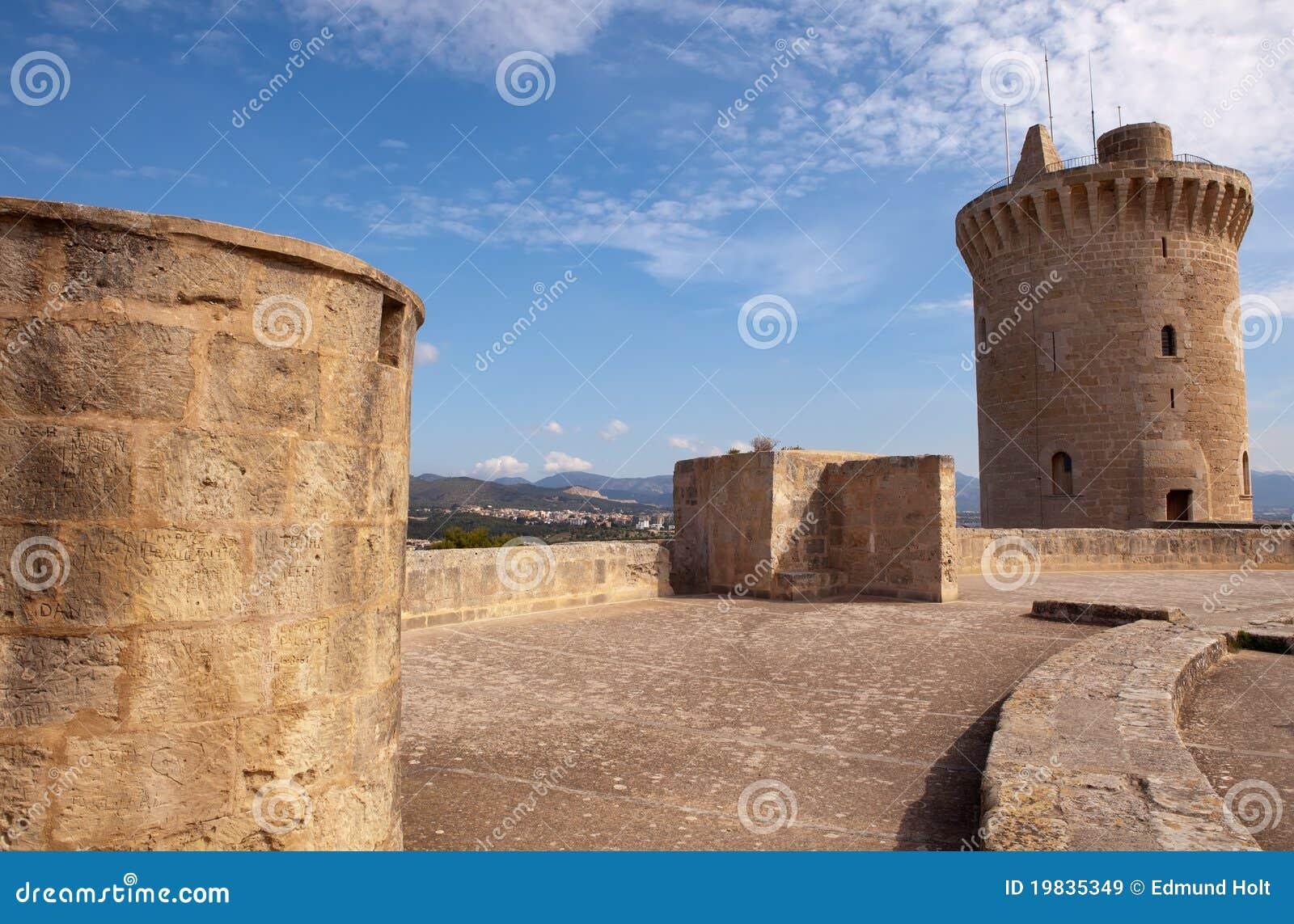 Download Bellver Castle Battlements, Palma, Majorca Stock Image - Image of history, castle: 19835349