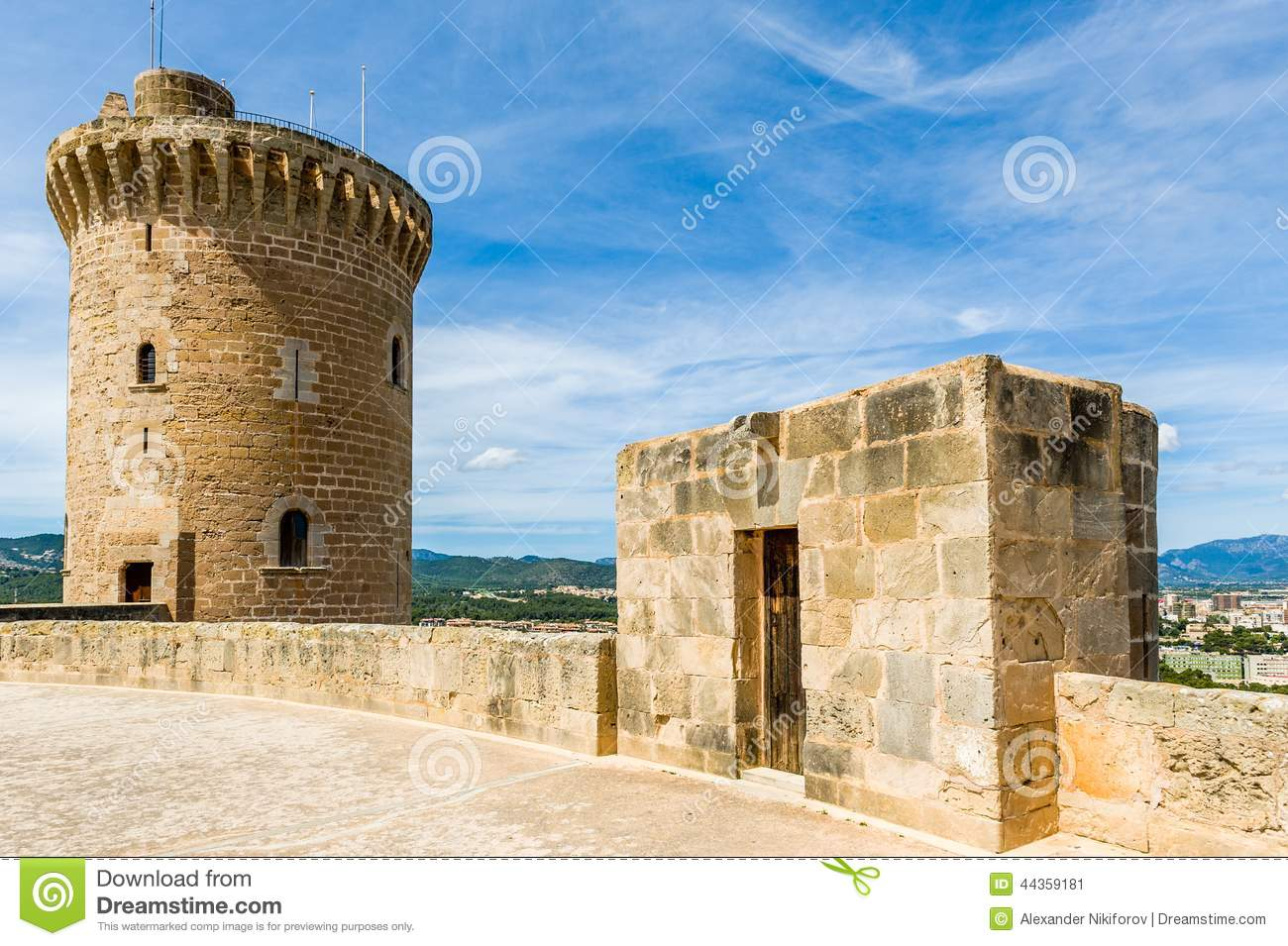Download Bellver Castle stock image. Image of fortification, antique - 44359181