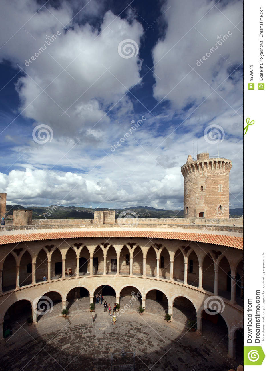 Download Bellver Castle in Majorca stock image. Image of europe - 3288649