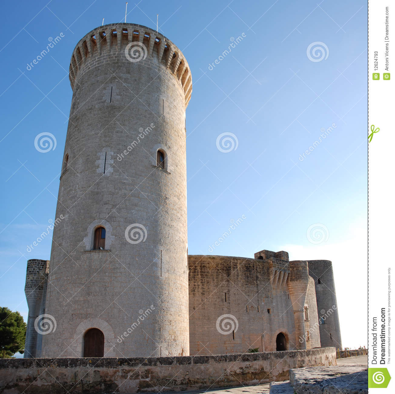 Download Bellver Castle Tower (Majorca) Stock Image - Image of arch, historical: 12624793