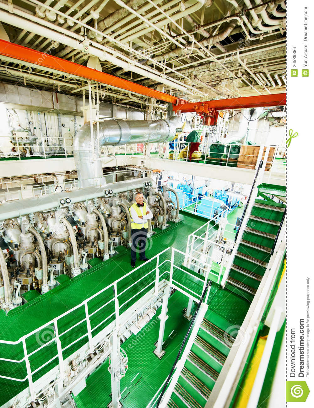 Cruise Ship Engine Control Room: In The Belly Of The Beast Stock Photo. Image Of Male