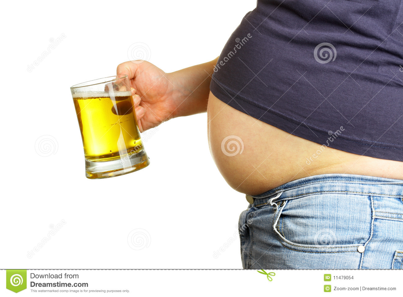 belly and beer stock images