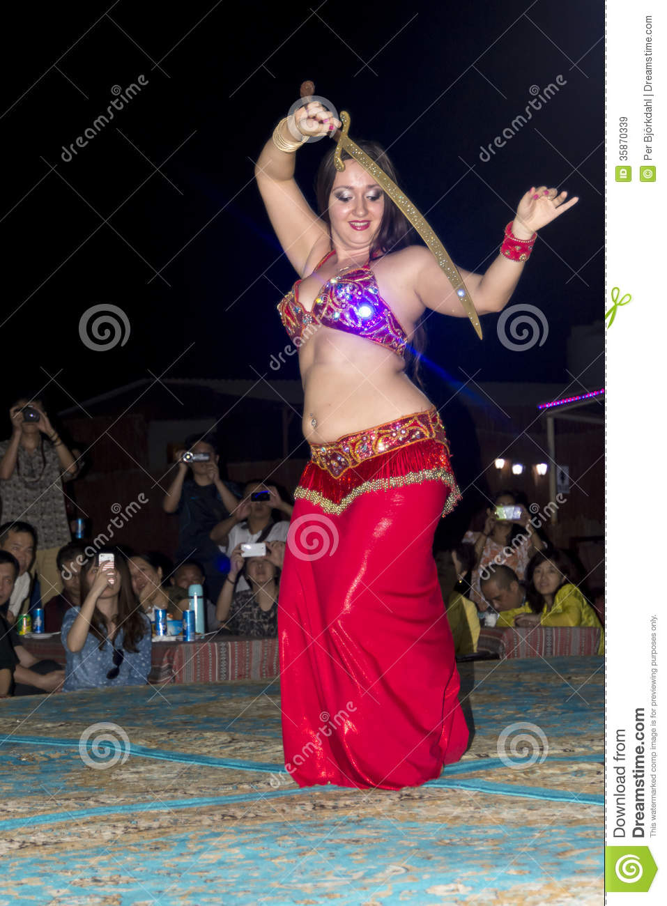 belly dancer with sword editorial stock image. image of female