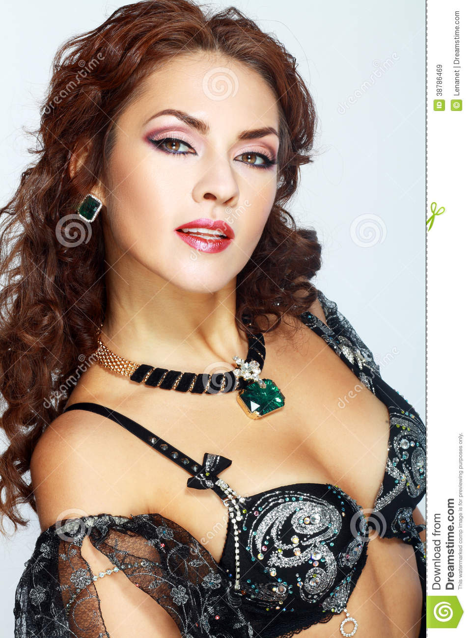 Belly Dancer Woman Portrait Stock Photo Image 38786469