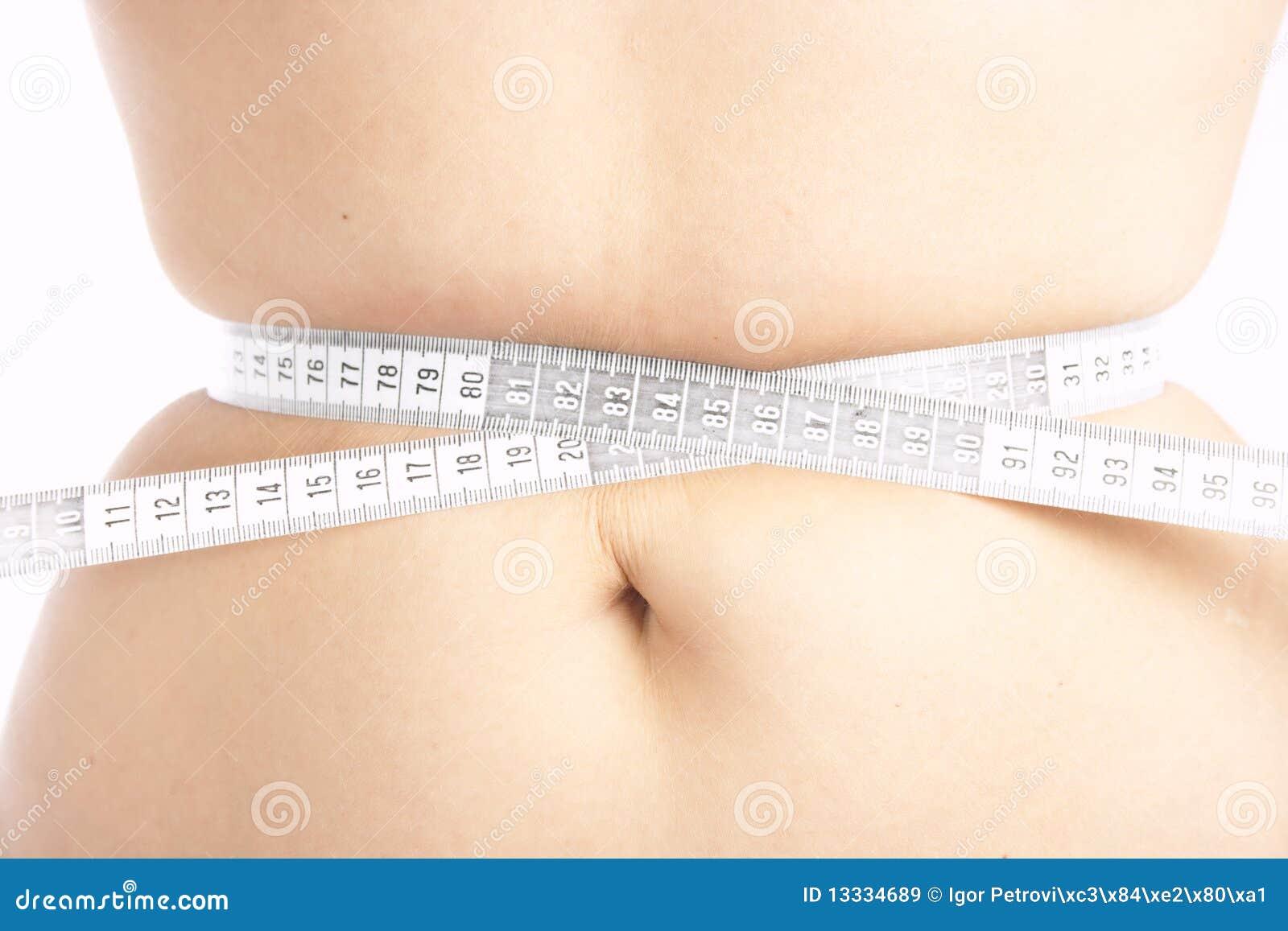 Belly jej pomiarowej kobiety