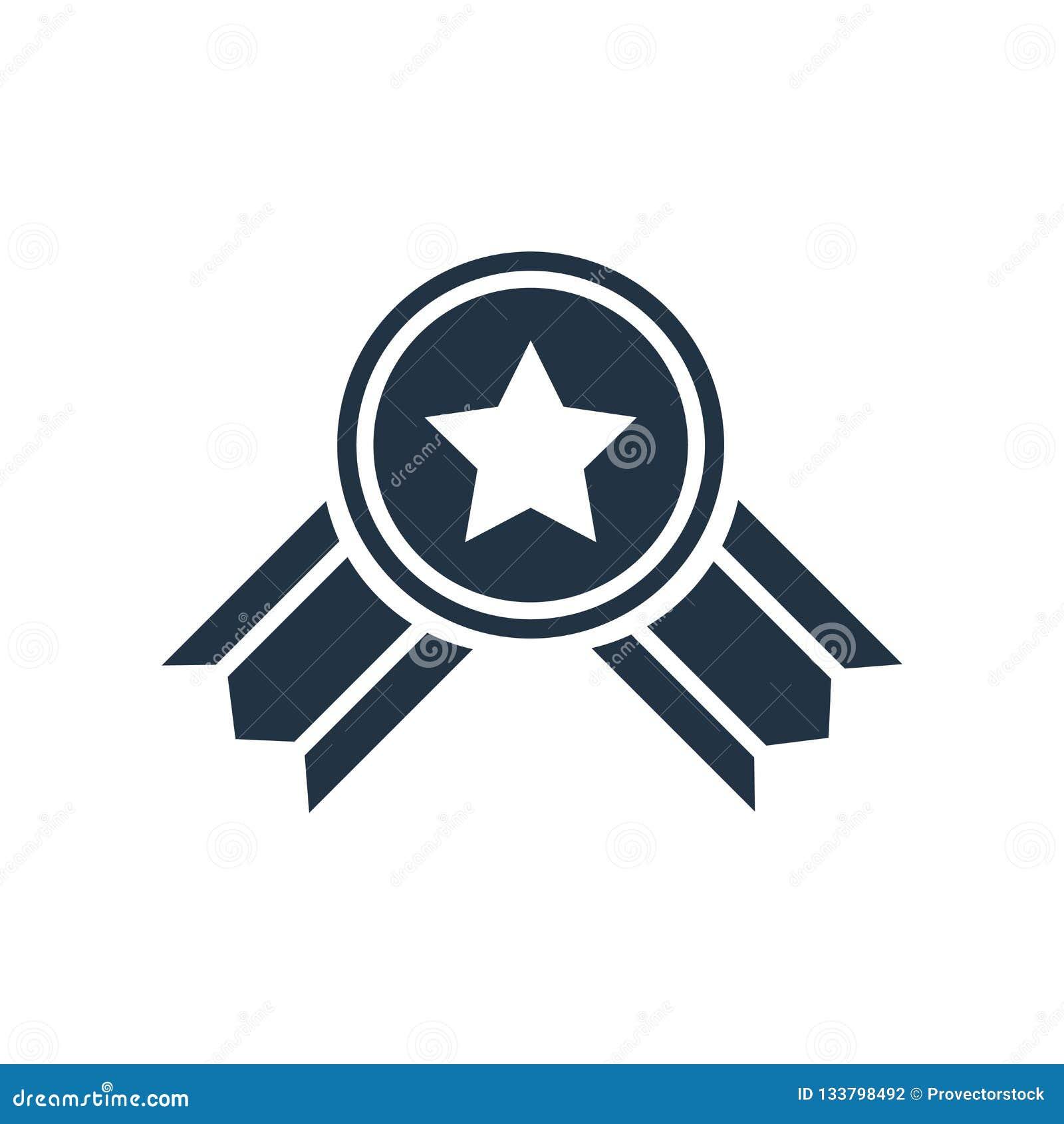 Belohnungsikonenvektor lokalisiert auf weißem Hintergrund, Belohnungszeichen