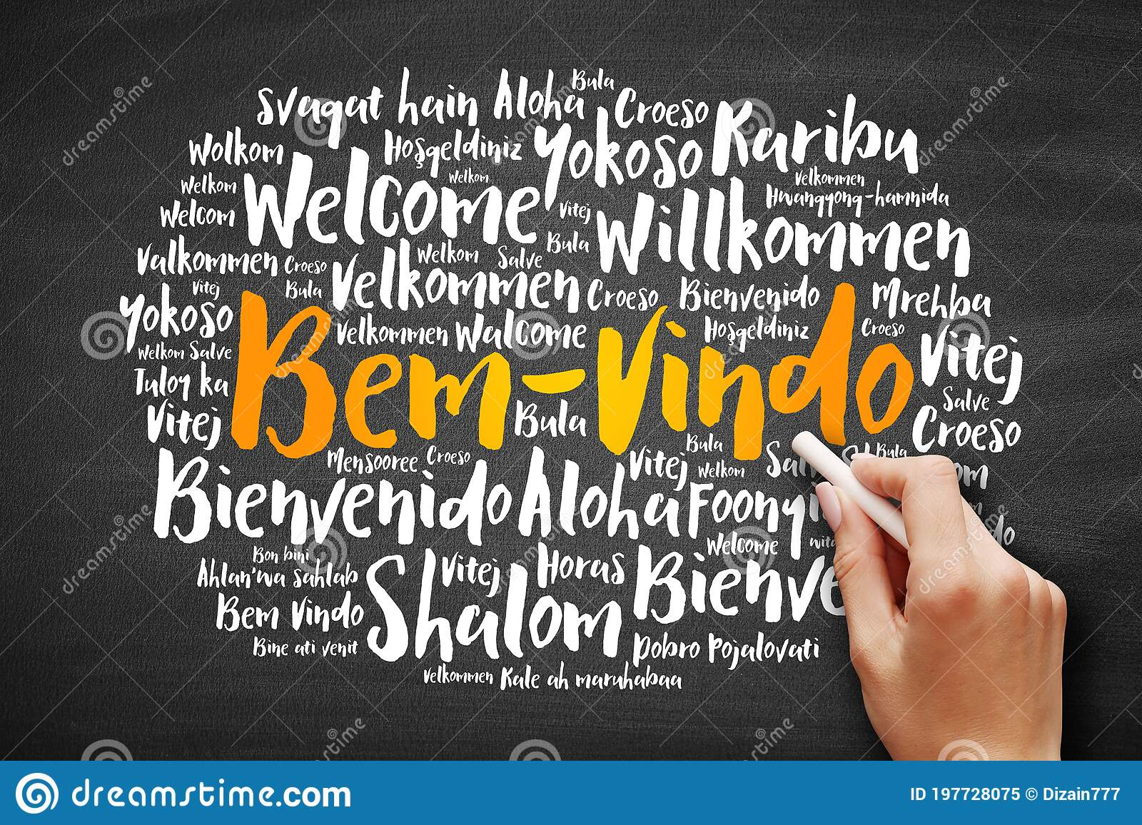 Bem Vindo Welcome In Portuguese Word Cloud Stock Image Image Of Foreign Japanese 197728075