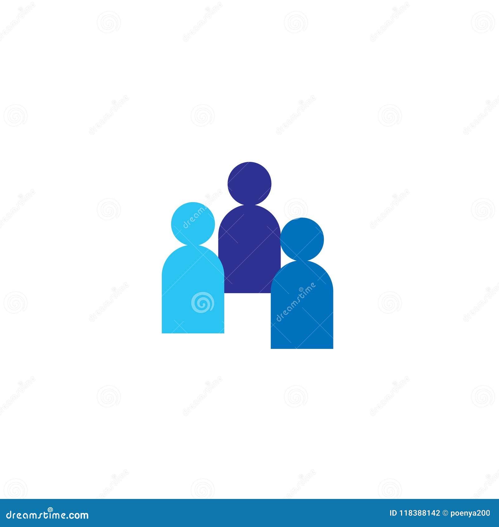 Bemanna symbolen Företags lag för affär som tillsammans arbetar Socialt symbol för nätverksgrupplogo Folkmassatecken Ledarskap- e