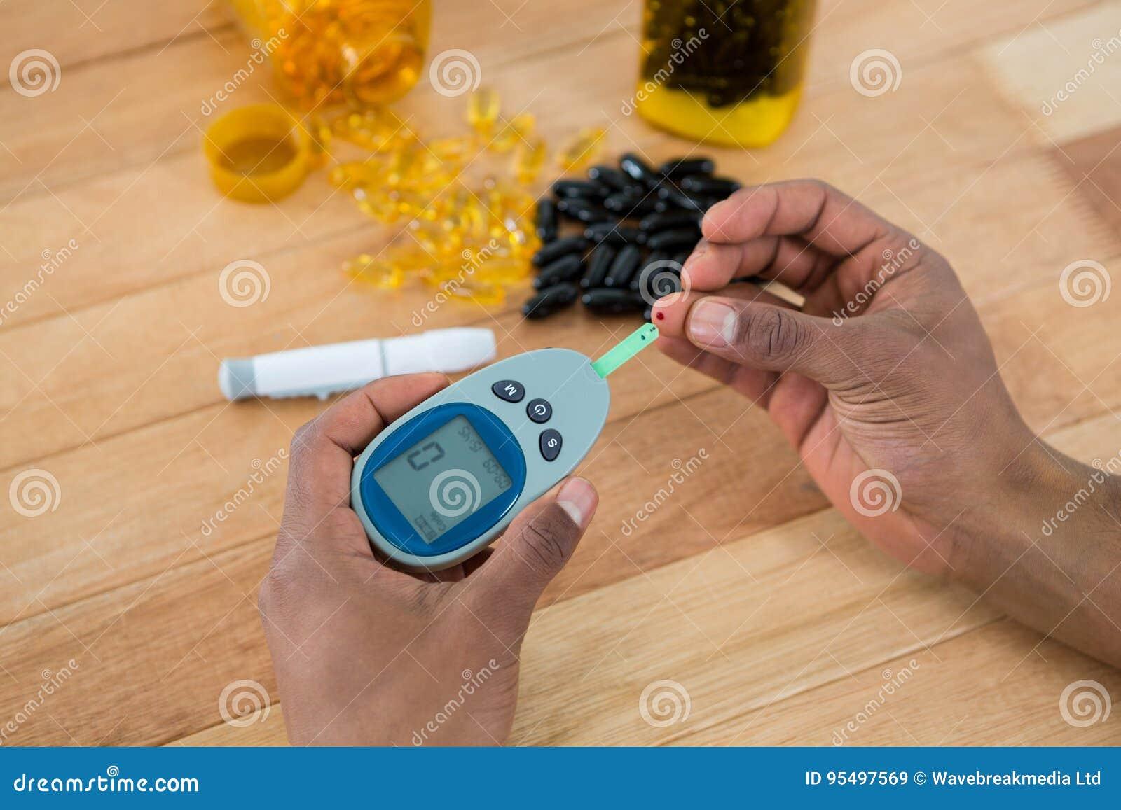 Bemannt Handprüfungs-Blutzucker mit glucometer