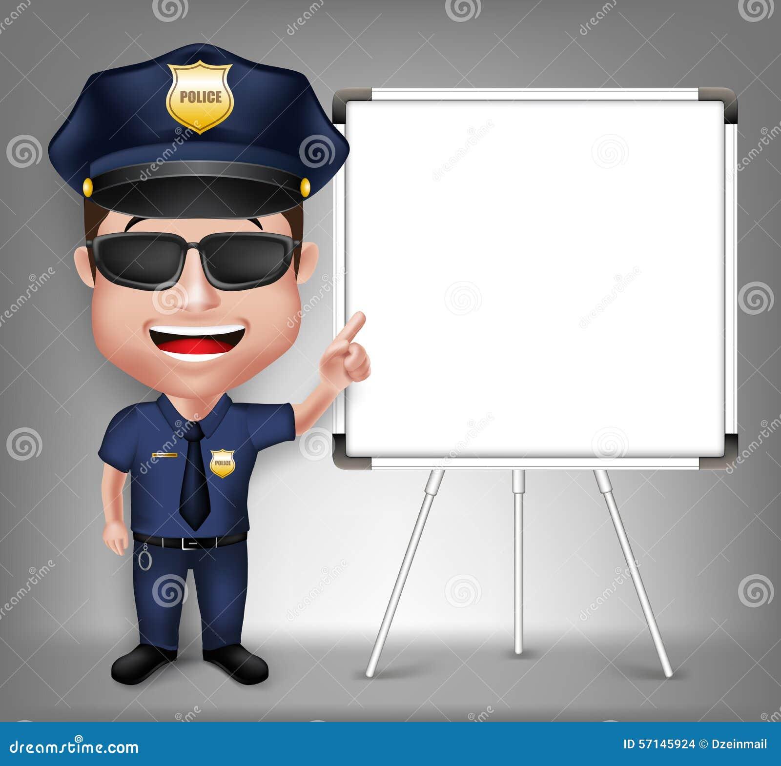 Bemannt Realistische Freundliche Polizei 3D Charakter-Polizisten ...