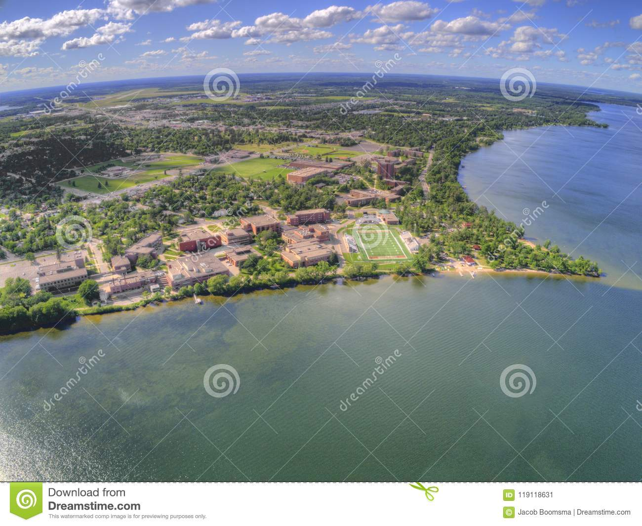 Bemidji State University is a College in a Town in Central Minnesota on the Shores of a Lake with the same Name