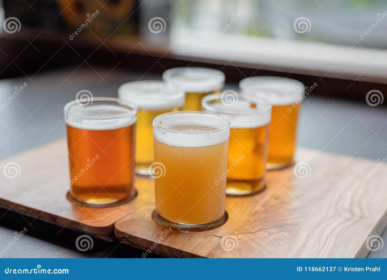 Bemonsteringsverscheidenheid van bieren van een biervlucht