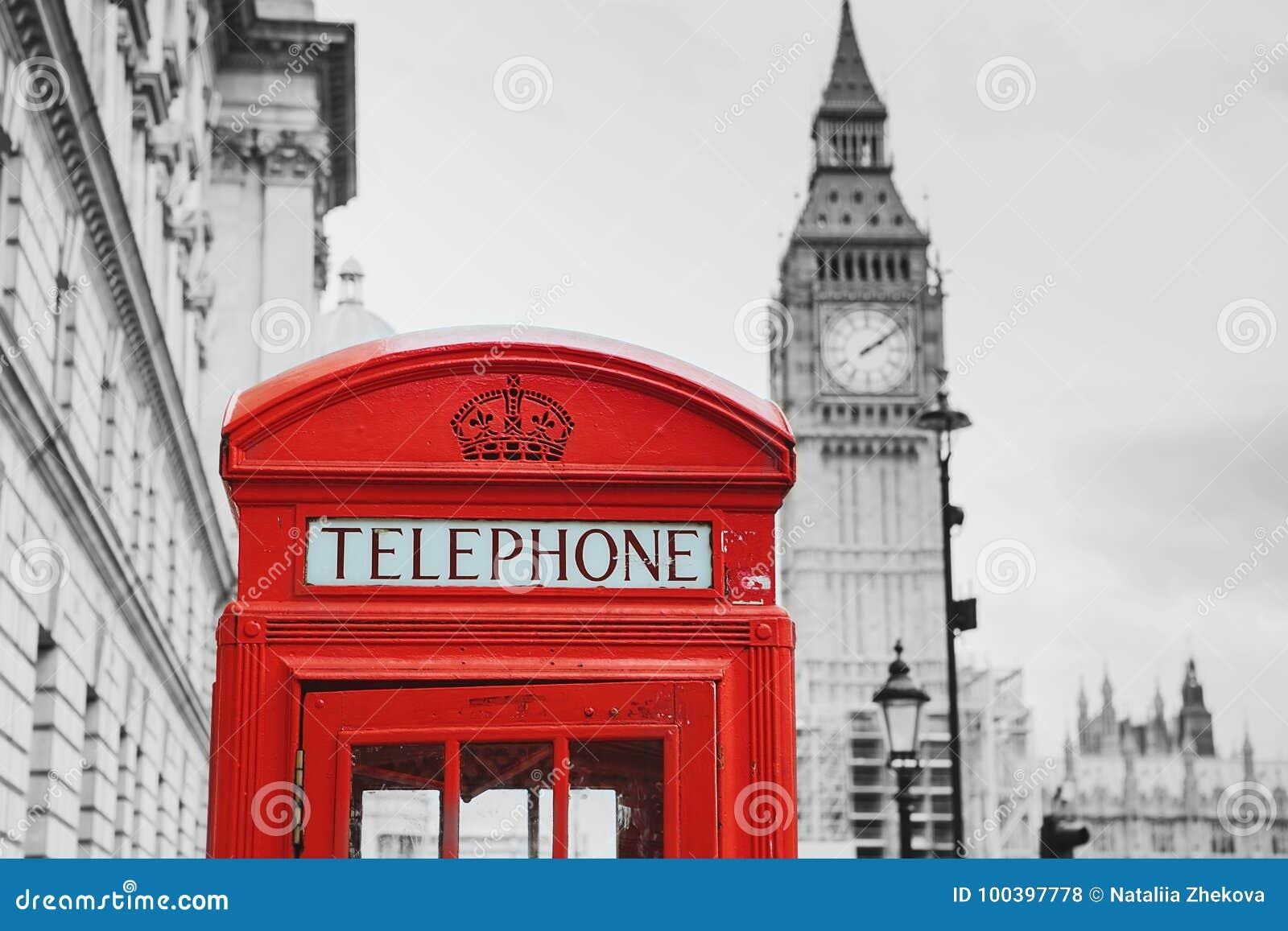 Ben μεγάλο κόκκινο τηλέφωνο UK του Λονδίνου κιβωτίων Λονδίνο UK