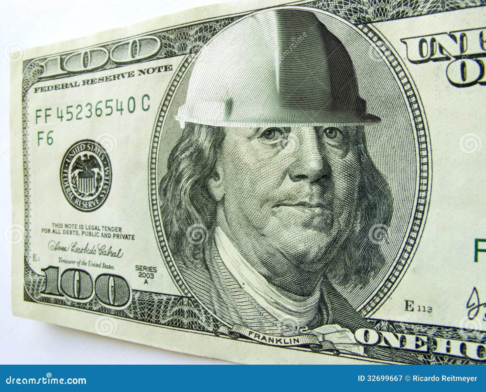 Ben Franklin One Hundred Dollar Bill Wearing Const Royalty ... - photo#49