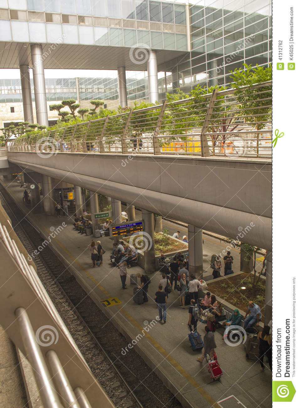 Ben Gurion Airport Train StationTel Aviv Israel Editorial
