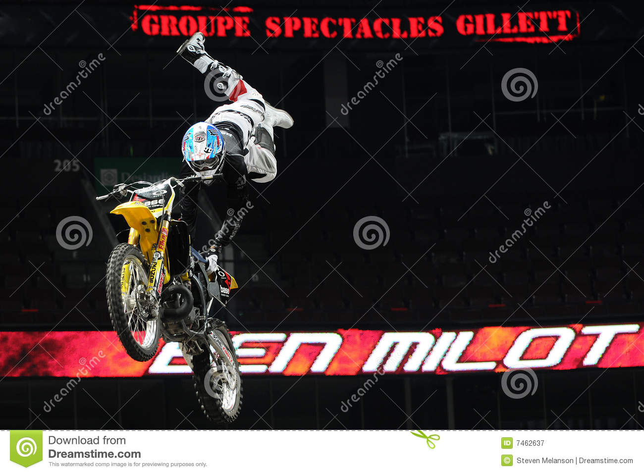 Ben Milot Free Style Motocross Editorial Photography - Image of