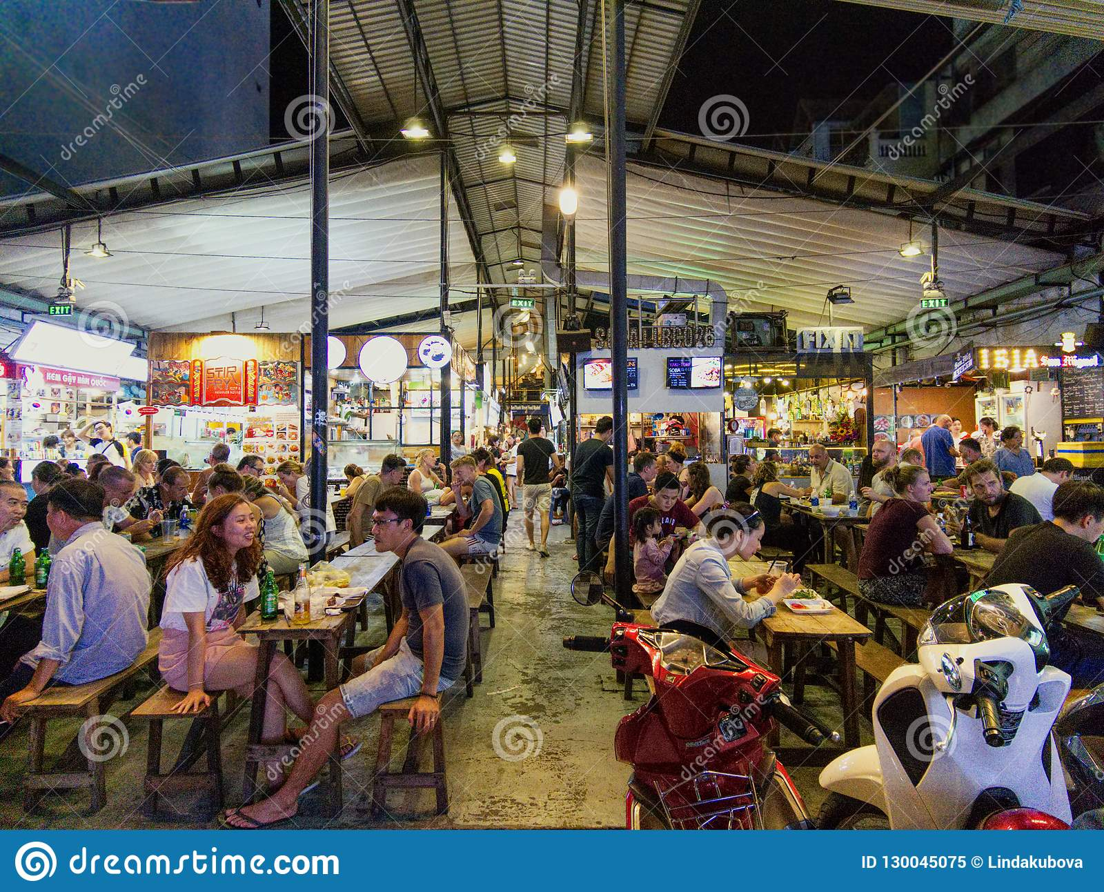 Ben Thanh Food Market In Ho Chi Minh City In Vietnam