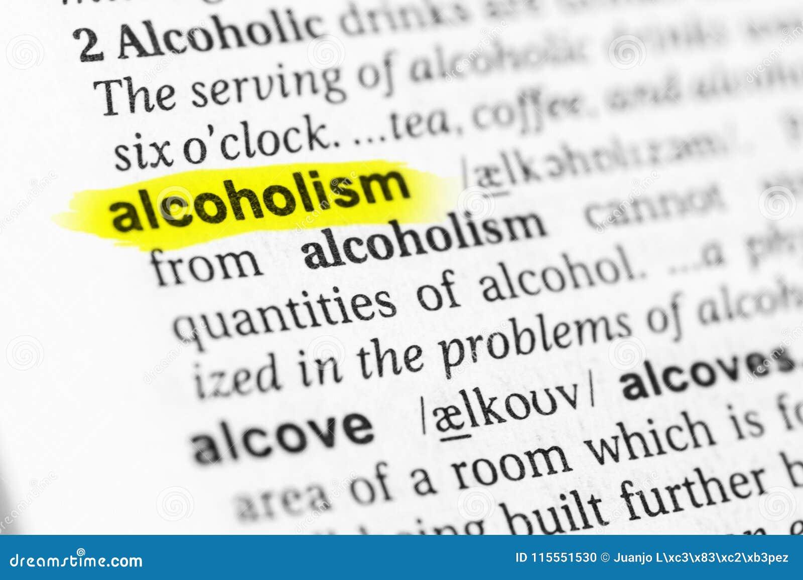 Benadrukt Engels woordalcoholisme en zijn definitie in het woordenboek
