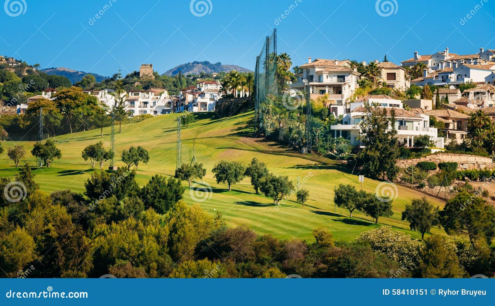Spanish Villa House Plans Benahavis In Malaga Andalusia Spain Summer Stock Photo