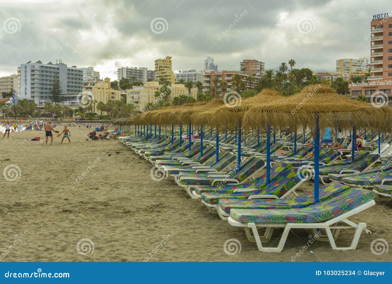 Benalmadena海滩,安达卢西亚省,西班牙
