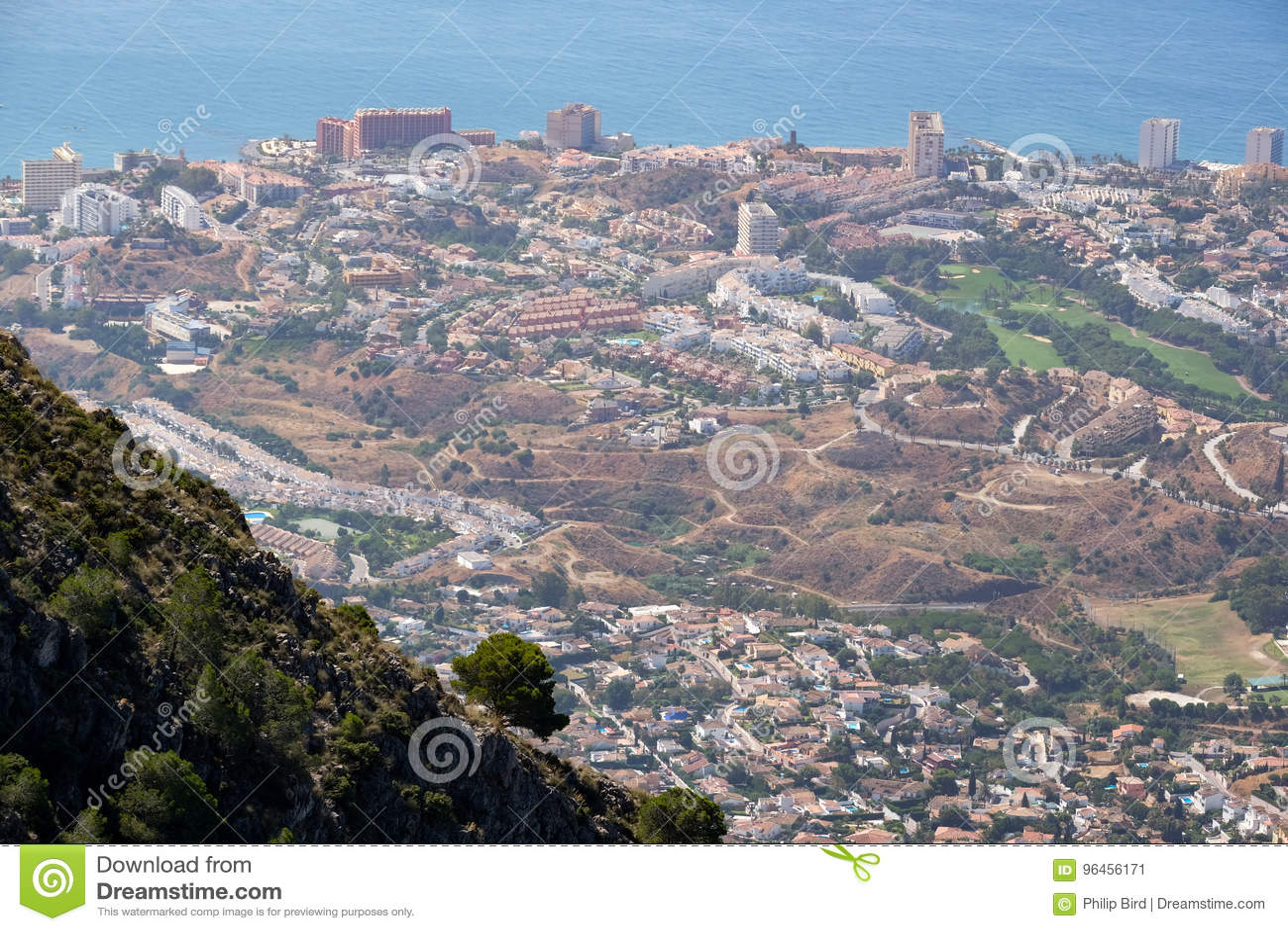 BENALMADENA, ANDALUCIA/SPAIN - 7 LUGLIO: Vista dal supporto Calamorr