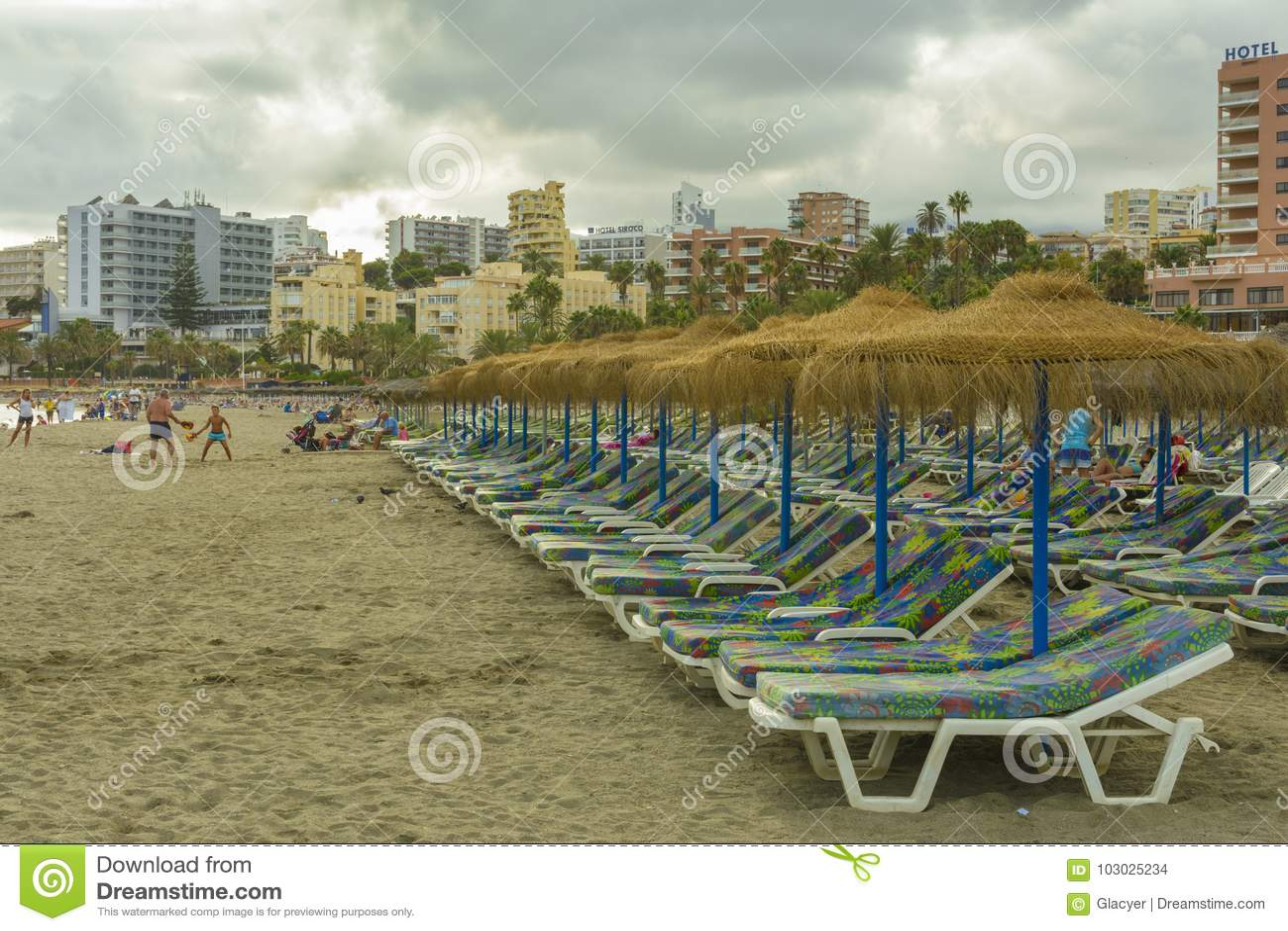 Benalmadena plaża, Andalucia prowincja, Hiszpania