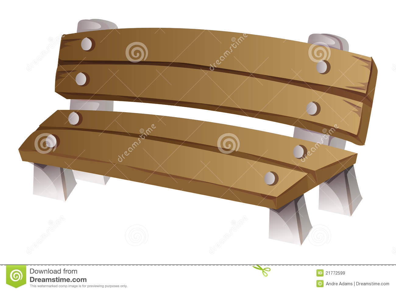 Bench Stock Vector Image Of Cartoon Brown Bench Rest