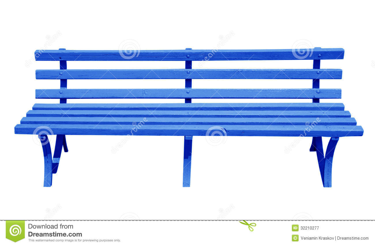 Bench blue stock image. Image of relax, furniture ...